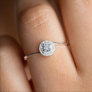 ⚡️NEW Round CZ Promise Ring on Sterling Silver 925